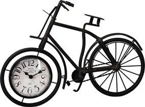 Ceas Bike din metal maro inchis 38.5x25 cm