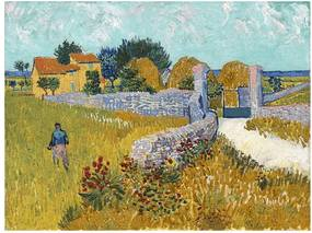 Reproducere pe pânză după Vincent van Gogh - Farmhouse in Provence, 40 x 30 cm