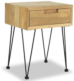 244576 vidaXL Noptieră, 40x30x50 cm, lemn masiv de tec
