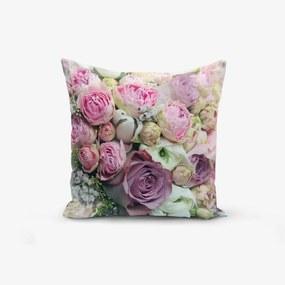 Față de pernă din amestec de bumbac Minimalist Cushion Covers Roses, 45 x 45 cm