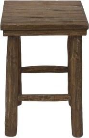 Taburet din lemn de tec HSM Collection Pank