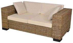 243245 vidaXL Set canapea de 2 locuri din poliratan 7 piese