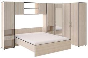 Set Dormitor Madrid, Ulm Deschis/Wenge
