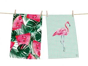 Home 2 prosopele colorate Butter Kings Watermelon Flamingo