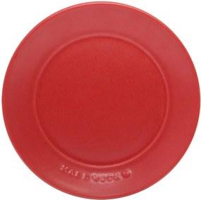 Farfurie pentru desert With Love din ceramica rosie 21 cm
