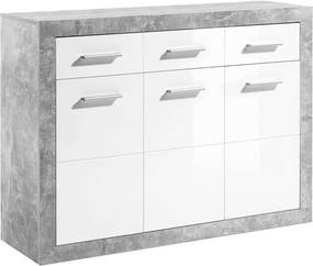 Scrin 3Z + 3D, beton / alb cu luciu, SLONE 2