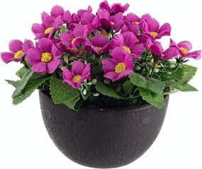 Flori artificiale mov in ghiveci  Ø8x16h