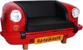 Canapea THIS&THAT, fata auto reciclata, rosu