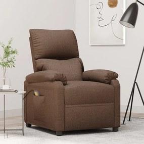 322458 vidaXL Fotoliu de masaj rabatabil, maro, material textil