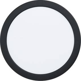 Spot incastrat FUEVA 5, EGLO, LED, 16.5W, 2000 lm, lumina neutra, otel, negru, plastic, alb, 21.6 x 2.6 cm, IP20, A+