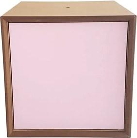 Raft cutie Ragaba PIXEL, 40 x 40 cm, ușă roz