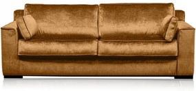 Canapea portocaliu apus din viscoza si lemn pentru 3 persoane Metro