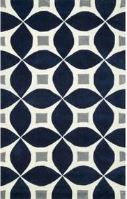 Covor Jamar, Albastru/Alb/Gri, 61 x 91 cm
