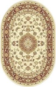 Covor sintetic Atlas oval bej/bordo 160x230 cm