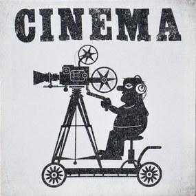 Tablou pe pânză - Cinema 2, 28x28 cm