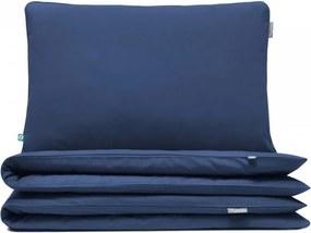Lenjerie de pat albastra din bumbac Basic Navy Blue Double Mumla (diverse dimensiuni)