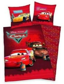 Herding - Lenjerie 2 piese Reversibila Disney Cars din Bumbac, 200x140 cm