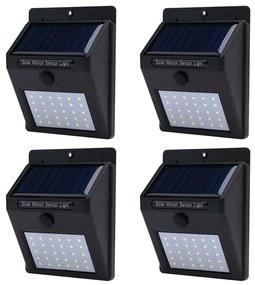 Set 4 buc lampa solara de perete