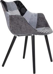 Scaun gri Twelve Patchwork Armchair Grey | ZUIVER