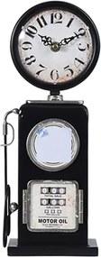 Ceas Vintage Gas Pump din metal negru 13x75 cm