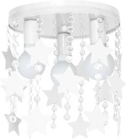 Plafoniera copii ELZA stars 3xE27/60W/230V alb