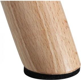 Scaun pentru Copii Gri din Plastic cu Picioare de Lemn 39cm OPJET PARIS - Plastic Gri Lungime (39cm) x Latime (39cm) x Inaltime (52cm)