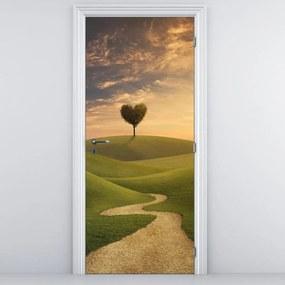 Fototapeta pentru ușă - peisaj și lunci (95x205cm)