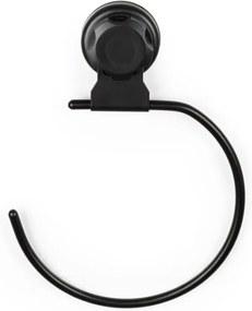 Suport autoadeziv pentru prosoape Compactor Bestlock Black, negru