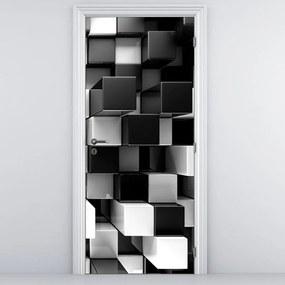 Fototapeta pentru ușă - zaruri albe și negre (95x205cm)
