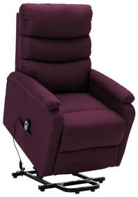 321243 vidaXL Fotoliu cu ridicare pe verticală, violet, material textil