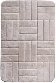 Covoraș de baie, cu spună cu memorie, Pătrate, crem, 50 x 80 cm, 50 x 80 cm