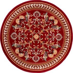 Covor Floral Rossalis, Rosu/Alb/Bej, 120x120 cm