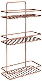 Etajeră cu 3 rafturi pentru baie Metaltex Copper