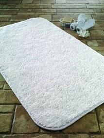 Covoras de baie Janae, poliester, alb, 40 x 55 cm