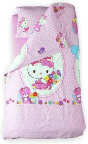 Lenjerie pat copii Hello Kitty 2-12 ani