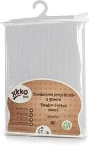 Xkko - Cearceaf cu elastic din bambus 60x120 cm Alb XKKO