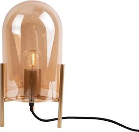 Veioză din sticlă Leitmotiv Glass Bell, auriu