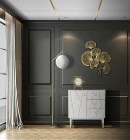Bufet Luxy, lemn de pin MDF fier, alb auriu, 80X40X82.5 cm