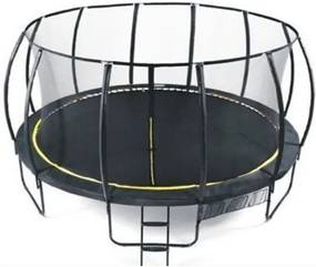 Heutink - Set trambulina Ookee Jump Carbon cu plasa si scarita, 488 cm