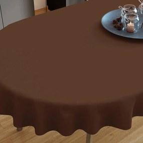 Goldea față de masă din bumbac maro închis - ovale 40 x 80 cm