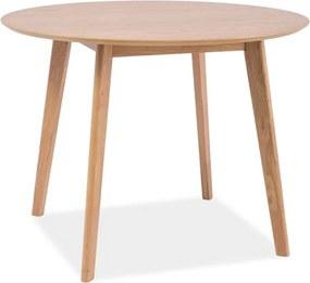 Masa din MDF si lemn Mosso Oak Ø90x75 cm