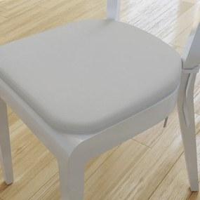 Goldea pernă pentru scaun rotundă decorativă 39x37cm - loneta - gri deschis 39 x 37 cm