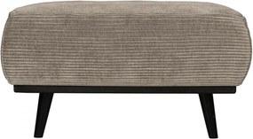 Taburet pentru picioare maro deschis din poliester si lemn de mesteacan 55x80 cm Statement