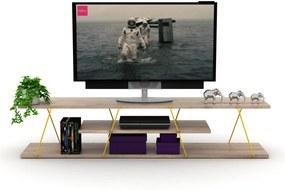 Comoda Tv - Tars Stejar/Galben