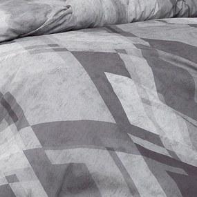 Lenjerie de pat din bumbac MOZAIC Gri lungime standard