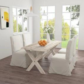 286163 vidaXL Masă de bucătărie, 160 x 80 x 75 cm, lemn masiv de tec