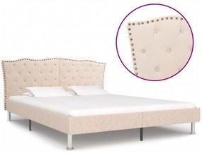 280536 vidaXL Cadru de pat, bej, 180 x 200 cm, material textil