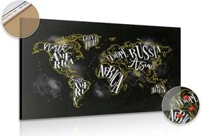Tablou pe plută harta lumii trend