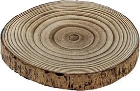 Platou Paulownia din lemn natur 20x2.5 cm