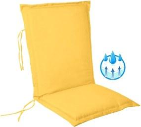 Perna impermeabila sezut/spatar pentru balansoar, scaun de bucatarie sau gradina, 48x65 cm, culoare galben